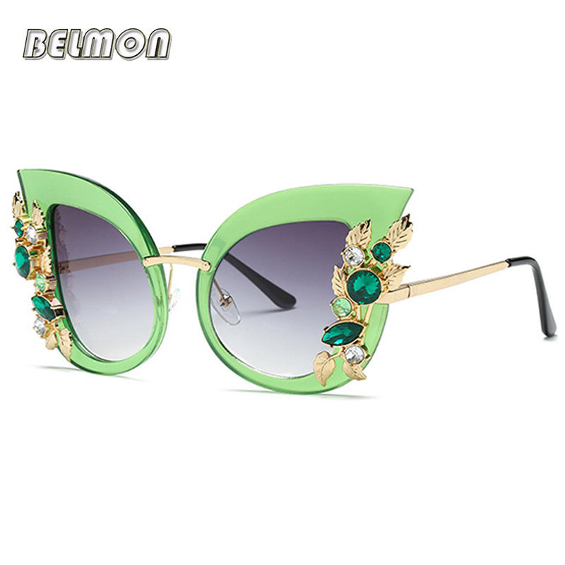 Fashion Cat Eye Sunglasses Women Brand Designer Sun Glasses For Ladies Vintage Oculos Cateye Female Sunglass Oculos de Sol RS625