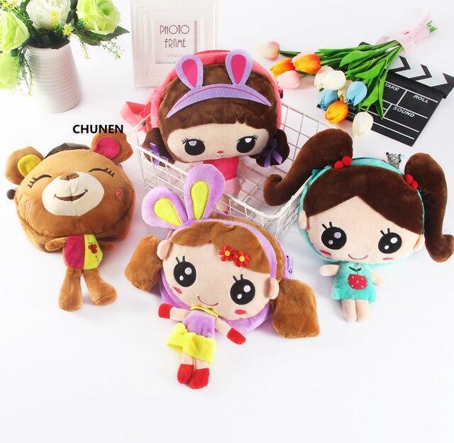 Urso do Kawaii, Sweet Girls, das Crianças de Pelúcia Mochila, Saco de Ombro Do Bebê Do miúdo, infantil Mochila De Pelúcia
