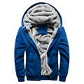 Grandwish Men's Hooded Sweatshirts Plus Size 5XL Mens Hiooded Coat Wool Winter Men Solid Hoodies Sweatshirts Casual ,PA005