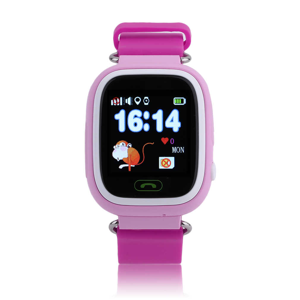 Q90 GPS Kids Smart Watch Phone Position Children Watch 1.22 Inch Color Touch Screen SOS Baby Safe Smart Watch Christmas Gifts