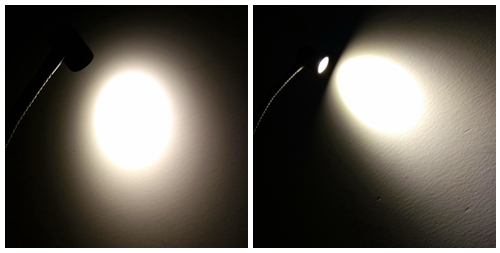 Lâmpadas de Parede cobra levou luz do armÁrio Material do Corpo : Alumínio