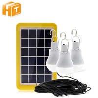 Ampoule portative de secours de panneau imperméable de la lumière 15W 130LM d'énergie solaire d'ampoule pour les lampes solaires extérieures de Camping de rue de chemin de jardin