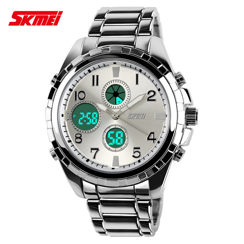 Men Watches Sports Luxury Brand Full Steel Quartz Clock Dive Digital LED Watch Army Military Sport Watch relogio masculino 2015