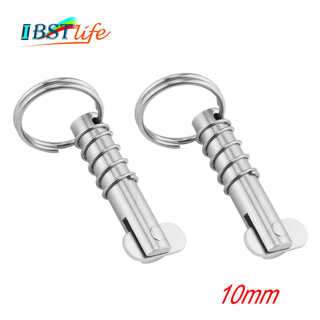 2PCS 10mm Marine Grade Stainless Steel 316 Boat Quick Release Pin Marine Hardware Deck Hinge Replacement Accessories