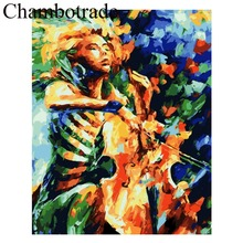 DIY By Numbers CHENISTORY Abstract Play Cello Photo Modern Home Decor Pictures On Canvas Kits Drawing Coloring Modular