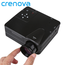 Chinese Day Crenova H80 Projector Full HD 1080P Portable Mini Projector LCD Home Theater Game Led video proyector With AV/VGA/USB/SD/HDMI