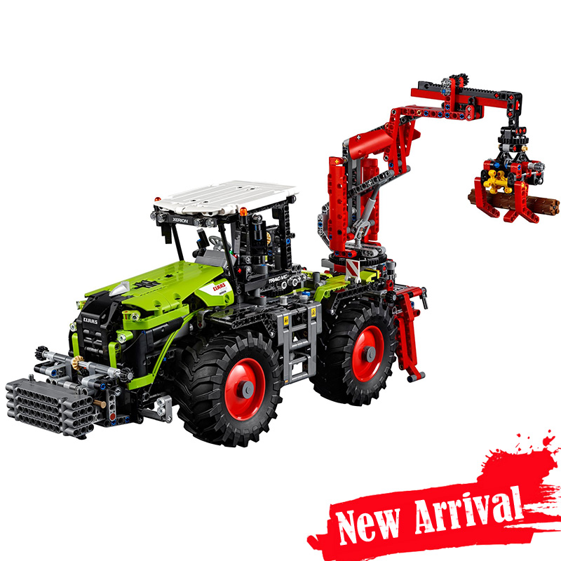 LEPIN 20009 Vehicle Tractor Car Motor Technic Model Building Blocks Bricks Toys diy For Kids 1977PCS Compatible legoINGly 42054 lepin 20009 1977pcs technic series the tractor model building blocks bricks compatible with 42054 boy s favourite