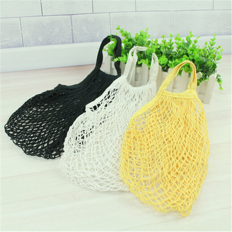 1PC Fashion Large Mesh Net String Shopping Bag Reusable Grocery Cotton Bag Environmental Protection Hand Totes Foldable New(China)