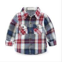 Funfeliz Menino Da Criança Camisa Xadrez Luva Cheia Camisas Polo para Meninos primavera Outono Crianças Blusa Menina Camisa Branca Top 1-8 Anos