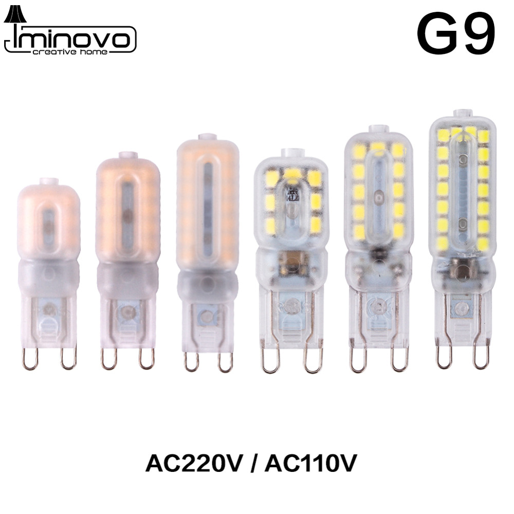 G9 G4 Lamp Led Corn Bulb COB 14LEDs 22LEDs 30LEDs SMD 2835 Replace 20W 30W 40W 50W Halogen Light Dimming Spotlight 110V 220V 5w led gy6 35 silicone corn bulb 40w gy6 35 halogen replacement 110v g6 35 bi pin base led crystal ceiling light bulb