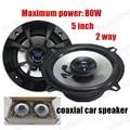 Venta caliente de Alta Eficiencia 2X80 W coche Altavoces coaxiales para todos coches envío libre audio del altavoz de 2 vías de altavoces Estéreo 5 pulgadas