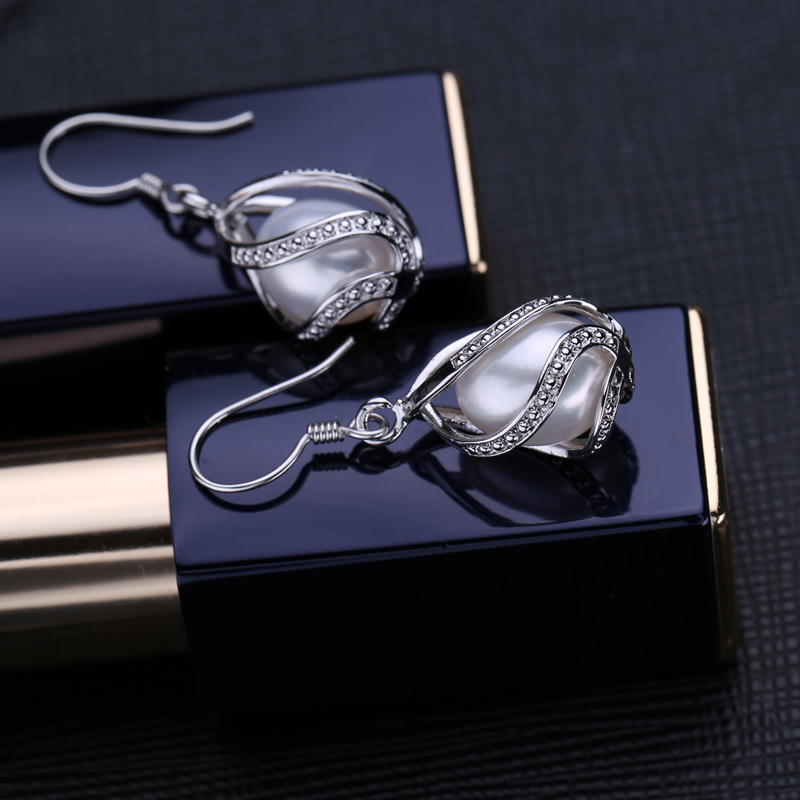 FENASY Perle dråbe øreringe Perle smykker retro choker til kvinder - Smykker - Foto 2