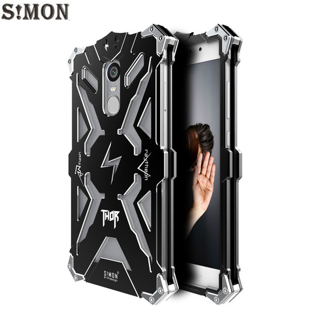 detailed look ec7d9 c4808 US $18.64 |Xiaomi Redmi Note 4X Case 5.5 inch Simon THOR IRONMAN Metal  Armor Case for Xiaomi Redmi Note 4 CNC Anodized Aluminum Cover on ...