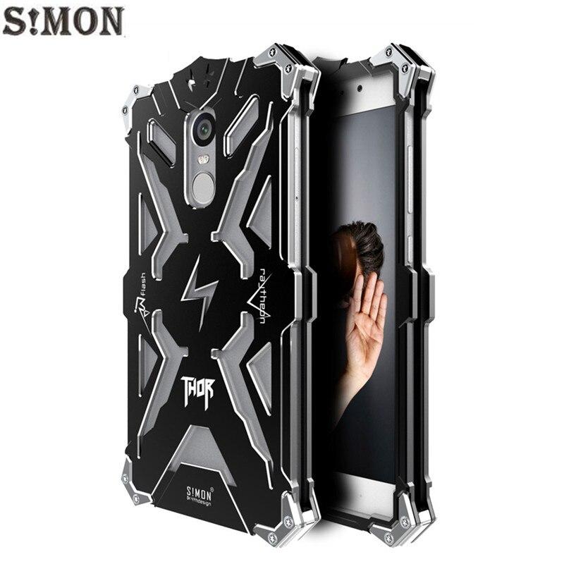 SIMON THOR IRONMAN Metal Armor Case For Xiaomi Redmi Note 4 4X CNC Anodized Aluminum Housing