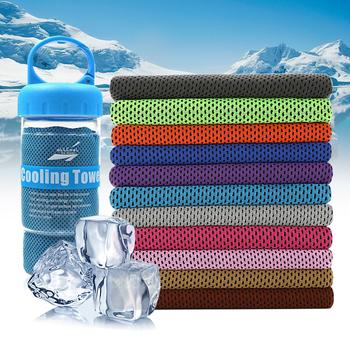 Chłodzenia ręcznik na lód sport wysokiej jakości mikrofibra natychmiastowe chłodzenie ręczniki z sport butelka Fitness szybkie chłodzenie ręcznik sportowy tanie i dobre opinie Bluefield 100 z włókien bambusa Drukowane Ice Towels sport towel as the picture shows home hotel sports beach hiking travel gift Fitness Yoga Climbing