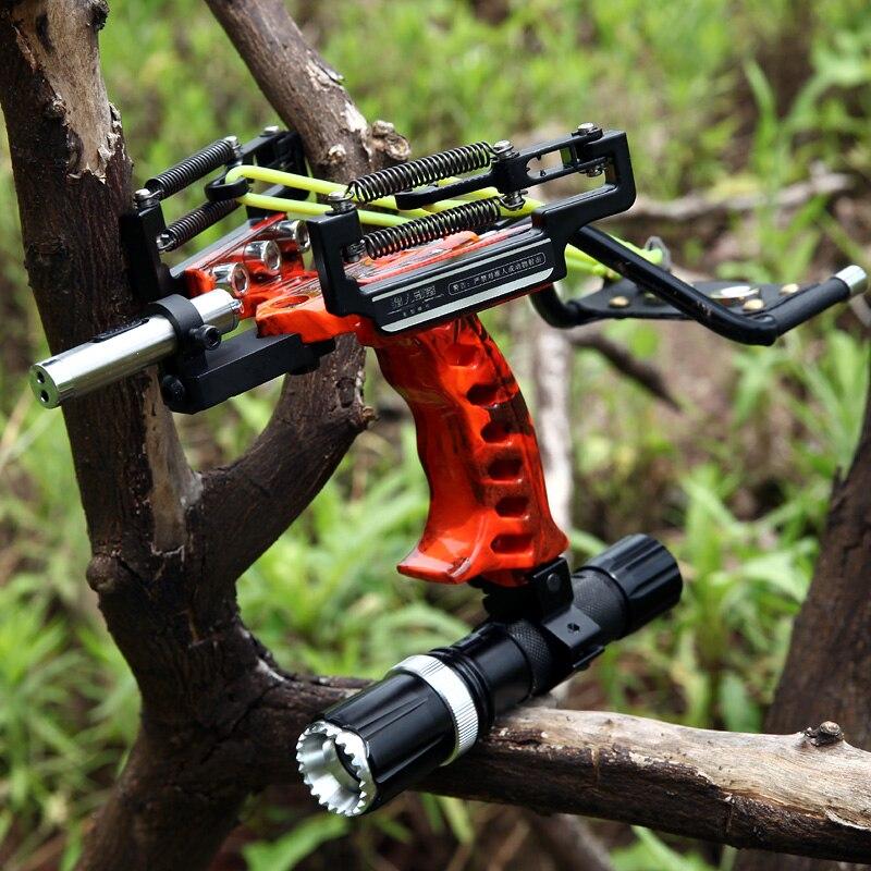 Catapulta profissional conjunto completo de pesca estilingue seta laser estilingue poderosa pesca catapulta super forte estilingue caça