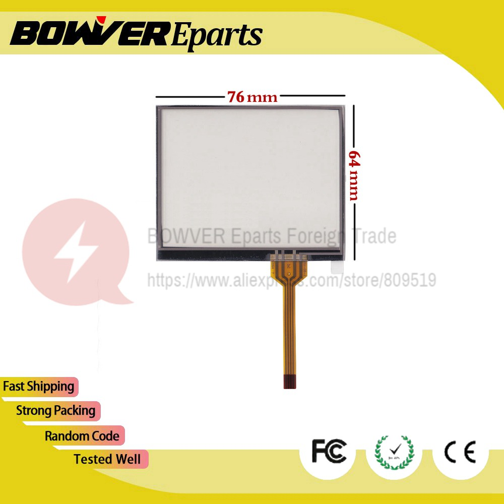 A+New 3.5 inch 4 wire Resistive Touch Screen Panel  76*64 76mm*64mm / 76*63  mm Car navigation Touchscreen / 84*64mm new 10 1 inch 4 wire resistive touch screen panel for 10inch b101aw03 235 143mm screen touch panel glass free shipping