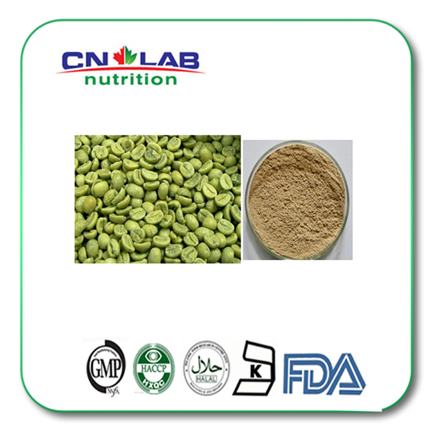 GMP/Kosher/Halal BNP Supply Top Quality Weight Loss Green Coffee Bean Extract/P.E Chlorogenic Acid natural green coffee bean extract chlorogenic acid 200g lot