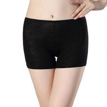 Safety Leggins Women Safety Short Pants Summer Bamboo Fiber Mid Waist Sexy Solid Breathable Boyshorts Boxer Panties For Ladies