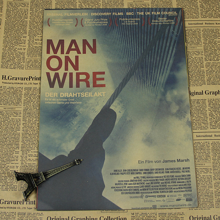 Man on wire drawing core wall documentary biography bedroom poster children bedroom living room wall stickers image