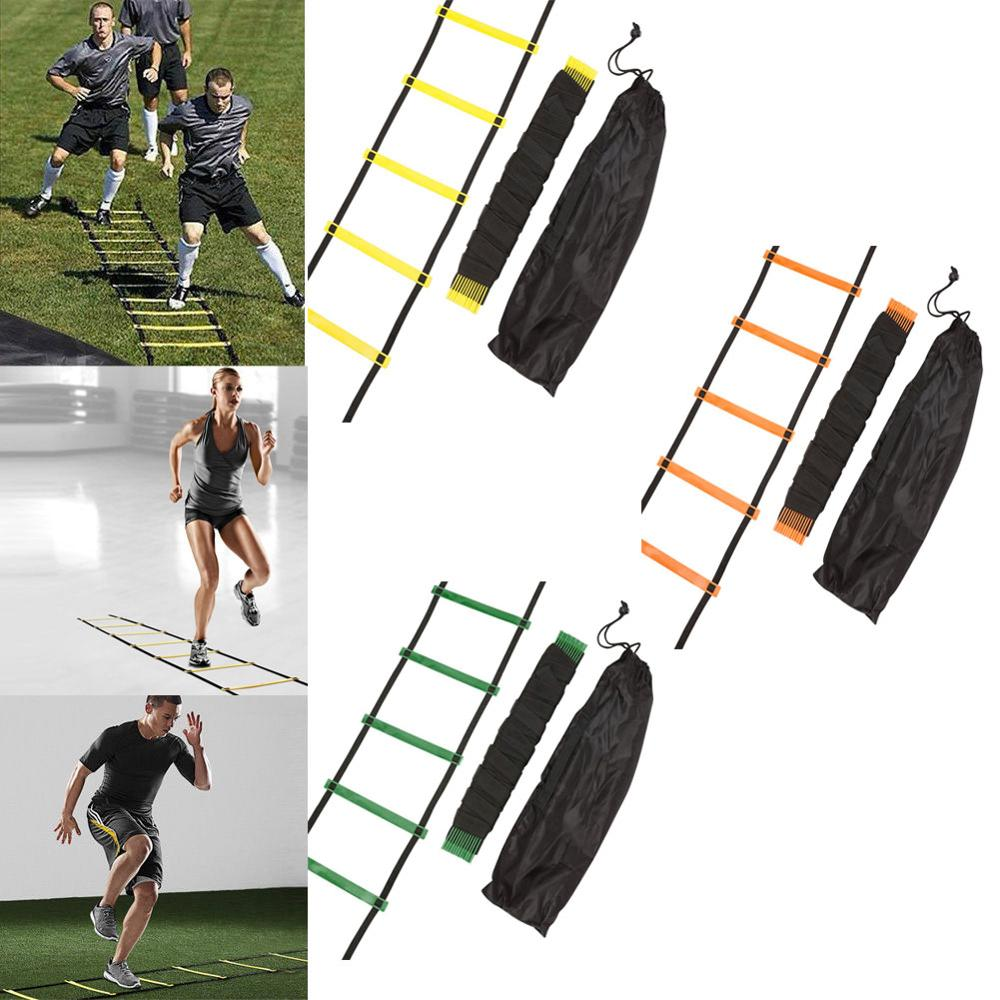 6/7/8/12/14 Rung Nylon Straps Training Ladders Agility Speed Ladder Stairs For Soccer And Football Speed Ladder Sports Equipment