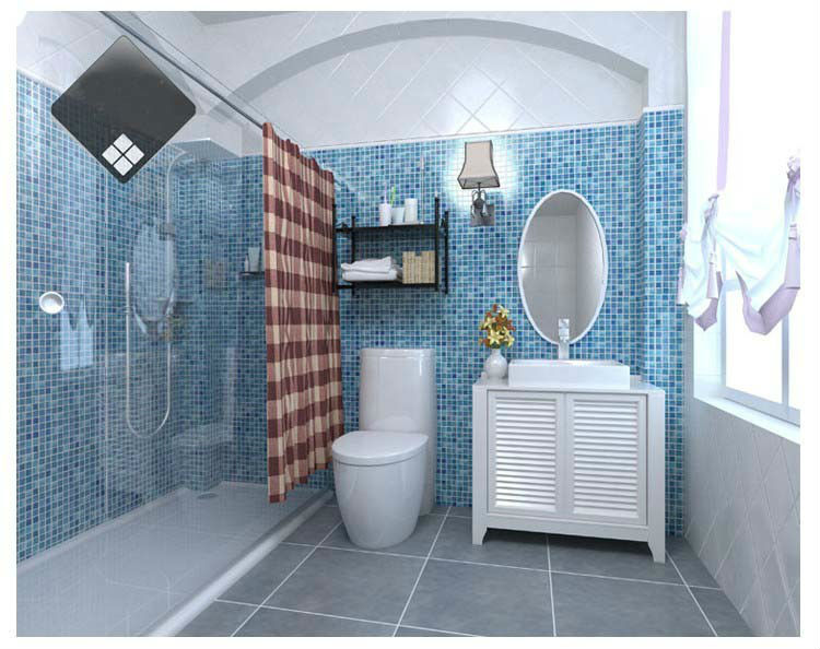Gl Mosaic Ktchen Backsplash Tile Bathroom Wall Floor Blue Tiles Mesh Chips Square Crystal Shower Design On Aliexpress Alibaba