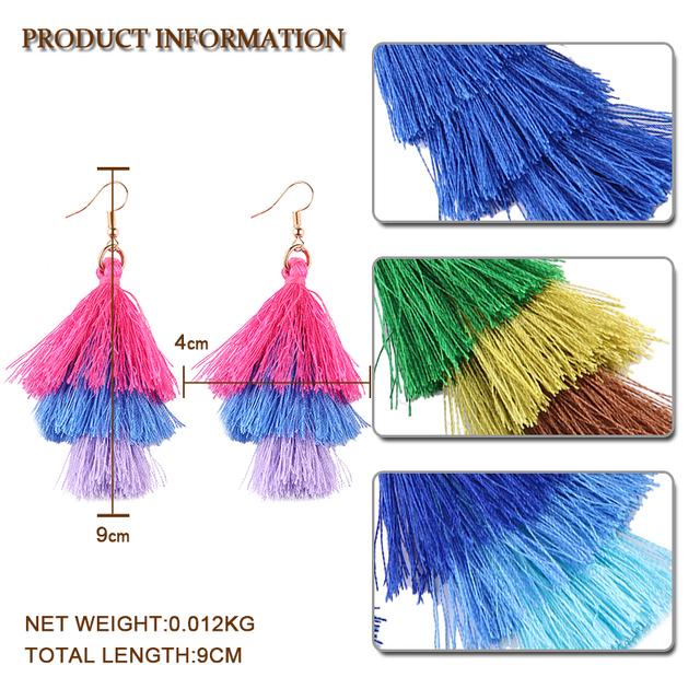 Fringed Quality Tassel Earrings