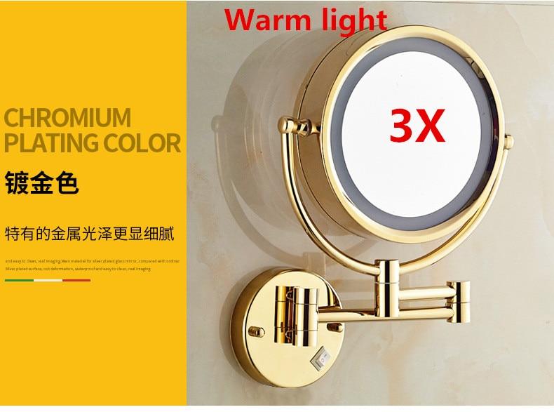 Online Shop Muurbevestiging Vergrotende Spiegel LED Licht Make ...