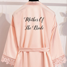 купить Owiter Matt Satin Robes Plus Size Wedding Bath Robe Bridesmaid Bride Dressing Gown with Lace Trim  Bridal wedding robes дешево