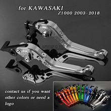 For Kawasaki Z1000 2003-2006 2007-2016 2017-2018 Aluminum Motorbike Levers Motorcycle Brake Clutch Levers Foldable Extendable for kawasaki z1000 z1000r ninja 1000 z1000sx 2017 2018 aluminum motorbike levers motorcycle brake clutch levers foldable