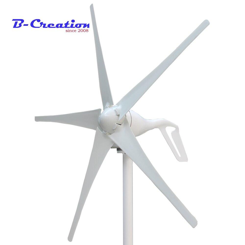 Prix usine, mini vent turbine/générateur 3/5 lames petit moulin à vent faible démarrage vent générateur + 400 w vent contrôleur