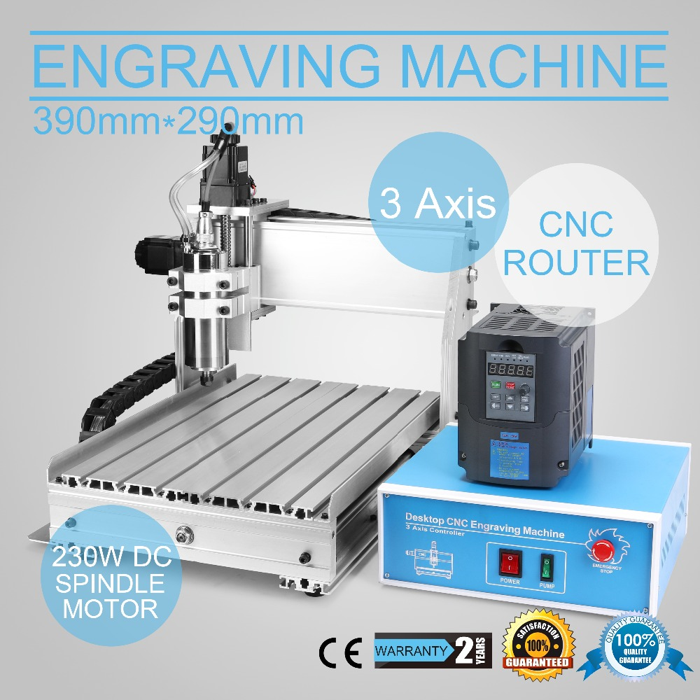 Updated New 3040DQ 3 Axis CNC Router Engraver Machine With 800W Water Cooled Spindel Motor PCB's Routing & Drilling