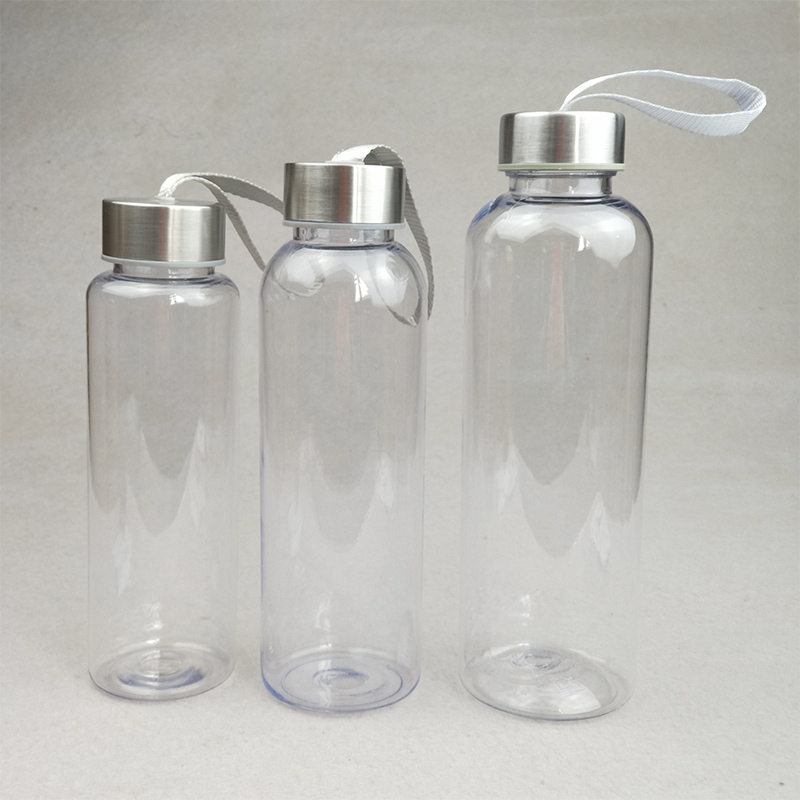 Water-Bottles Drinkware Plastic Transparent Outdoor-Sports Portable Travel-Carrying Leakproof