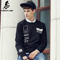 Pioneer Camp 2017 hot men hip hop black hoodies men sweatshirt men brand clothing Top quality autumn male streetwear 622111