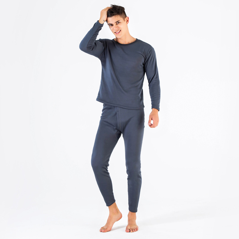 Winter Velvet Thick Women Thermal Underwear For Men Warm Layered Clothing Pajamas Thermos Men Long Johns Second Thermal XXXL in Long Johns from Underwear Sleepwears