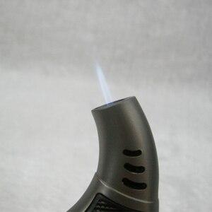 Image 2 - Outdoor BBQ Spray Gun Jet Butane Pipe Lighter Torch Turbo Lighter Gas Cigarette 1300 C Fire Windproof Cigar Lighter