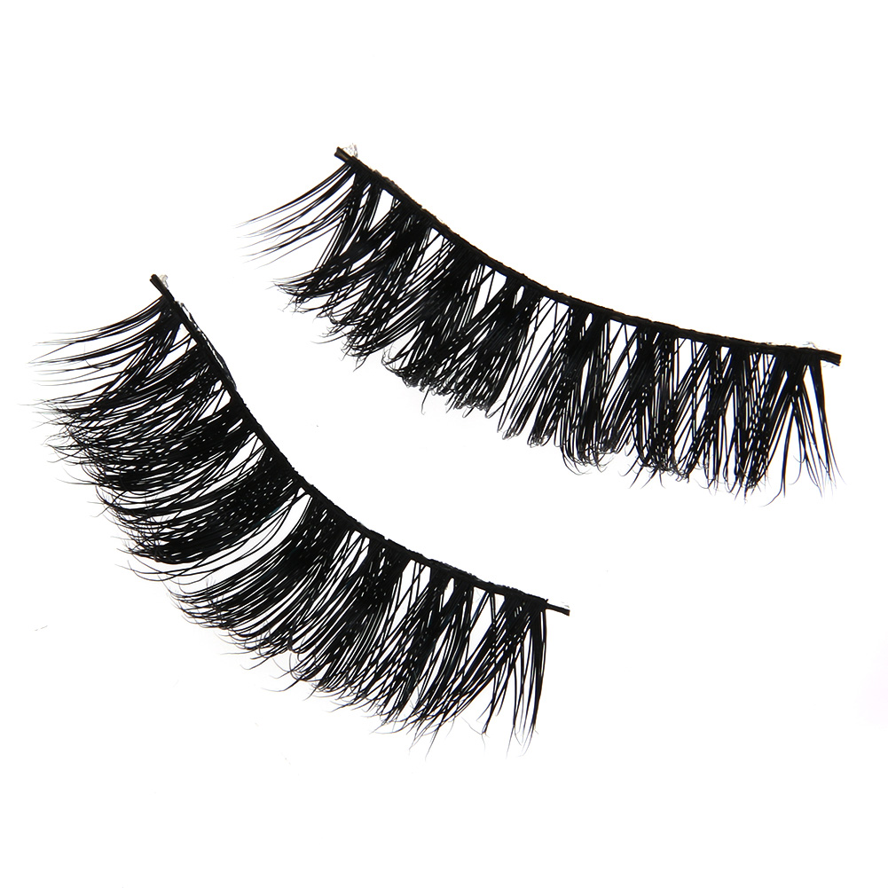 Eye Makeup Eyelash Handmade False Fake Eyelashes 3D Natural Black Thick Soft Mink Hair Eye Extention lashes