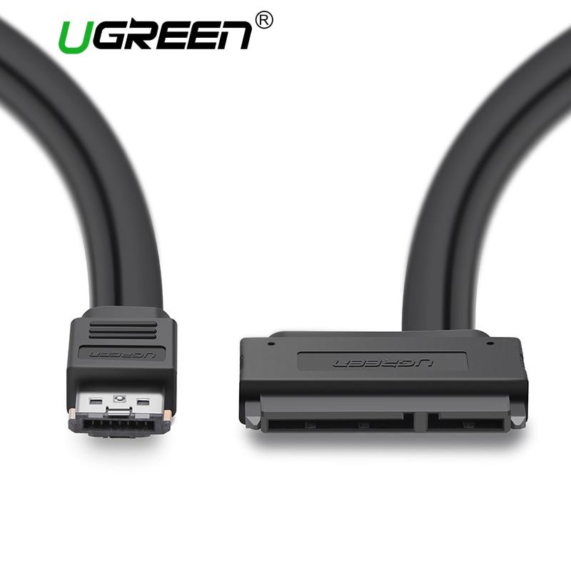 Ugreen ESATA to Sata Cable Dual Power 22 Pin USB ESata Combo to SATA Cable Adapter for 2.5 Hard Disk Drive USB Sata Cable best price usb 3 0 to sata 7 15 pin 22pin adapter cable for 2 5 3 5inch hard disk drive