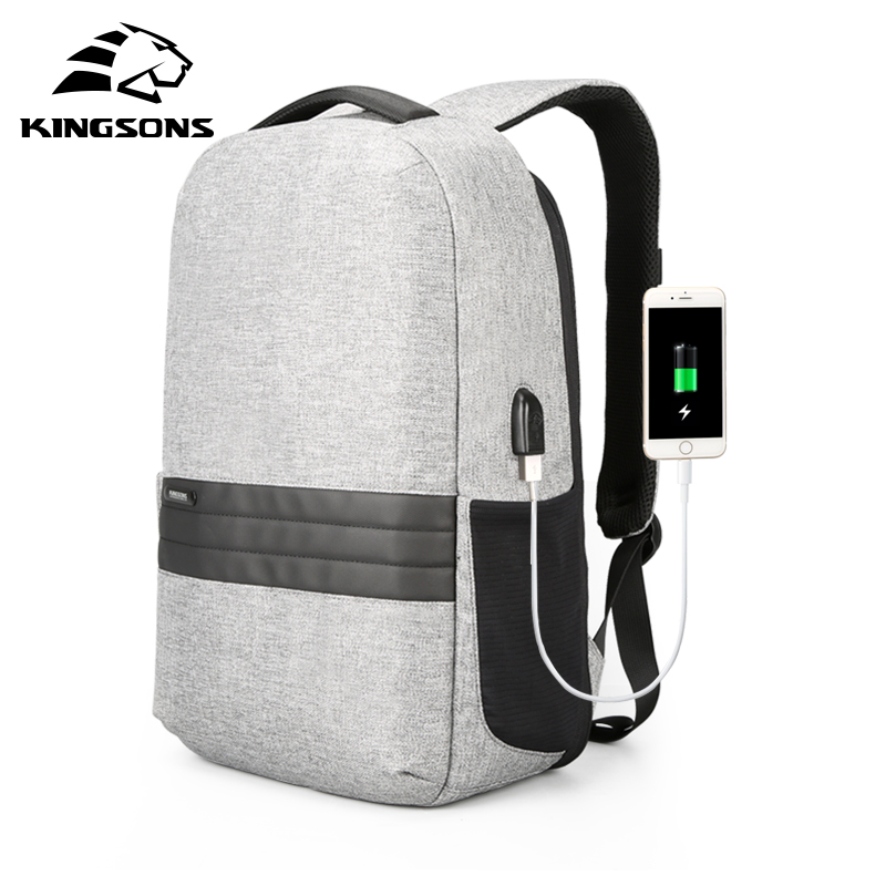 Kingsons 2018 Laptop Bag New Men Backpack City Style Anti Theft Backpack Male Fashion Travel Bags
