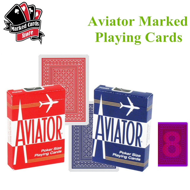 Aviator Marking Playing Cards Perspective Sunglasses Marked Cards Red and Blue Invisible Ink Aviator Marked Poker Cards