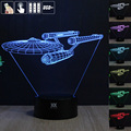 Shipping from USA Star Trek Remote Control LED Desk Table Night Light 7 Color Touch Lamp Kids  Children Family Holiday Gift