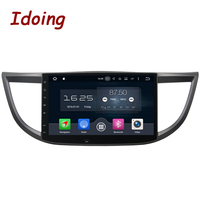Idoing 10.1Steering Wheel For Honda CRV 2012 Android 8.0/7.1 Car DVD Player 8Core 4G+32G 1Din Audio 1080 P Video WiFi Fast Boot