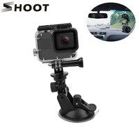 Съемка мини Экшн - камеры на присоске для GoPro Hero 8 7 5 черный SJCAM SJ7 Yi 4K H9 Go Pro 7 крепление оконное стекло присоска аксессуар