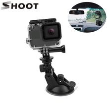 SHOOT 미니 액션 카메라 흡입 컵 GoPro 영웅 9 8 7 5 블랙 SJCAM SJ8 이순신 4K H9r 이동 프로 마운트 창 유리 빨판 액세서리