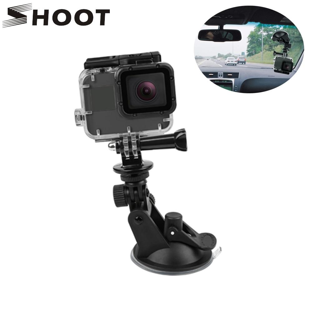 SHOOT Mini Action Camera Suction Cup For GoPro Hero 8 7 5 Black SJCAM SJ7 Yi 4K H9 Go Pro 7 Mount Window Glass Sucker Accessory