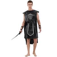 Adult Mens Dark Gladiator Roman Greek Warrior Costume Cosplay Halloween Spirit Carnival Mardi Gras Medieval Theme Fancy Dress