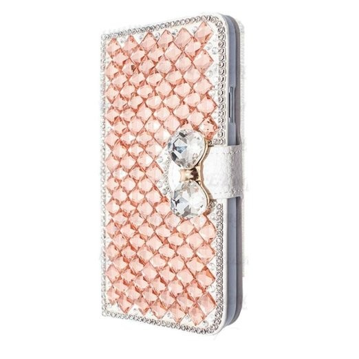 FK HQ Bling Crystal PU Leather Case for Samsung Galaxy S3 S 3 iii mini i8190 GT-i8190 Case i8200 GT-i8200 i8200l G730 SM-G730