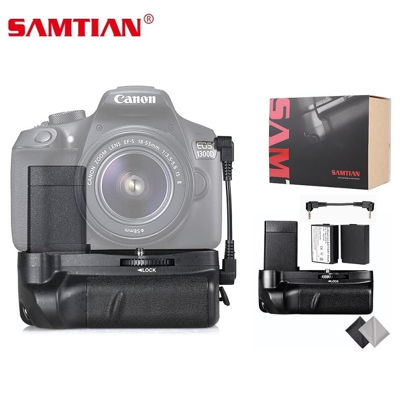 цена на SAMTIAN battery grip holder for canon 1100d 1200d 1300d Rebel T5 T6 EOS Kiss X50 DSLR camera Come with 2pcs LP-E10 Battery