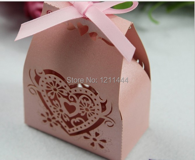 10pcs hollow deep pink paper card candy box for wedding decoration 10pcs hollow deep pink paper card candy box for wedding decoration and invitation gifts holiday junglespirit Choice Image