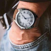パーニス機械式メンズ腕時計ダイバー腕時計時計レザー防水サファイアクリスタル自動日付発光腕時計自動 2019